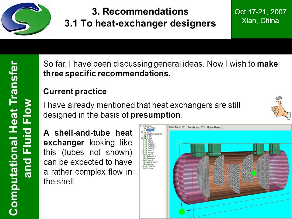 3. Recommendations 3.1 To heat-exchanger designers