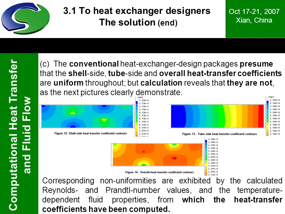 3.1 To heat exchanger designers The solution (end)