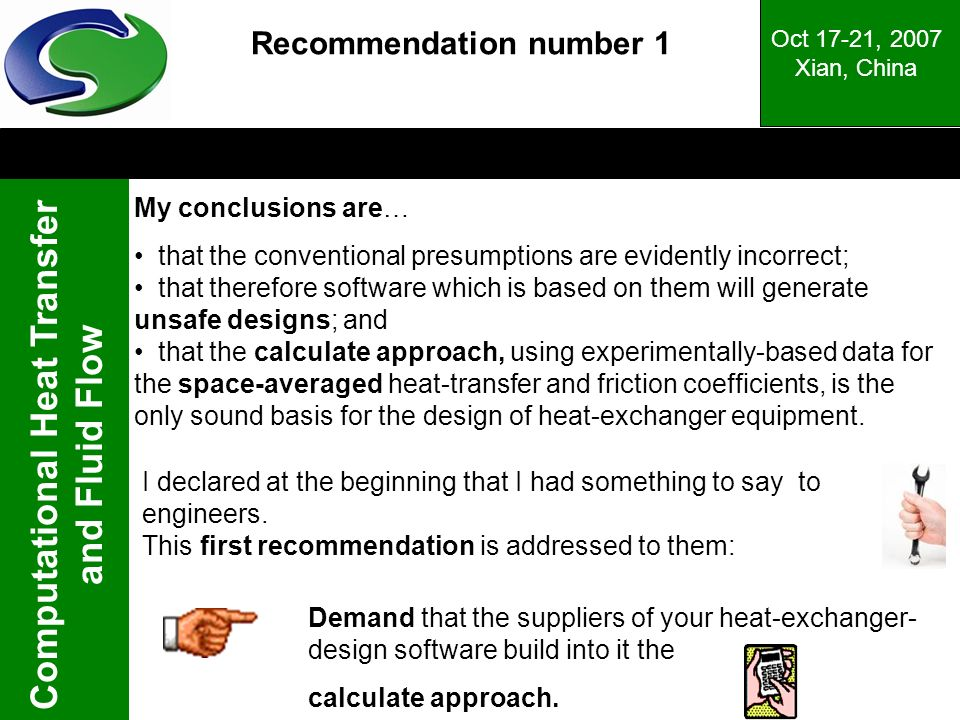 Recommendation number 1