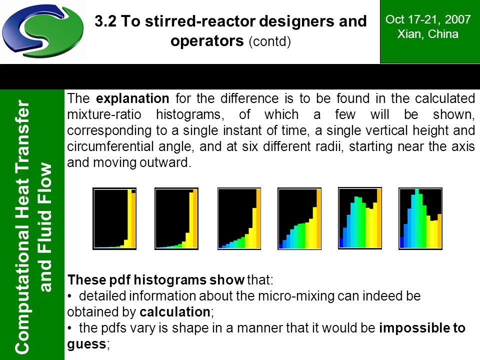 3.2 To stirred-reactor designers and operators (contd)
