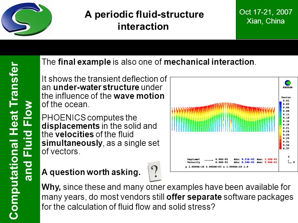 A periodic fluid-structure interaction