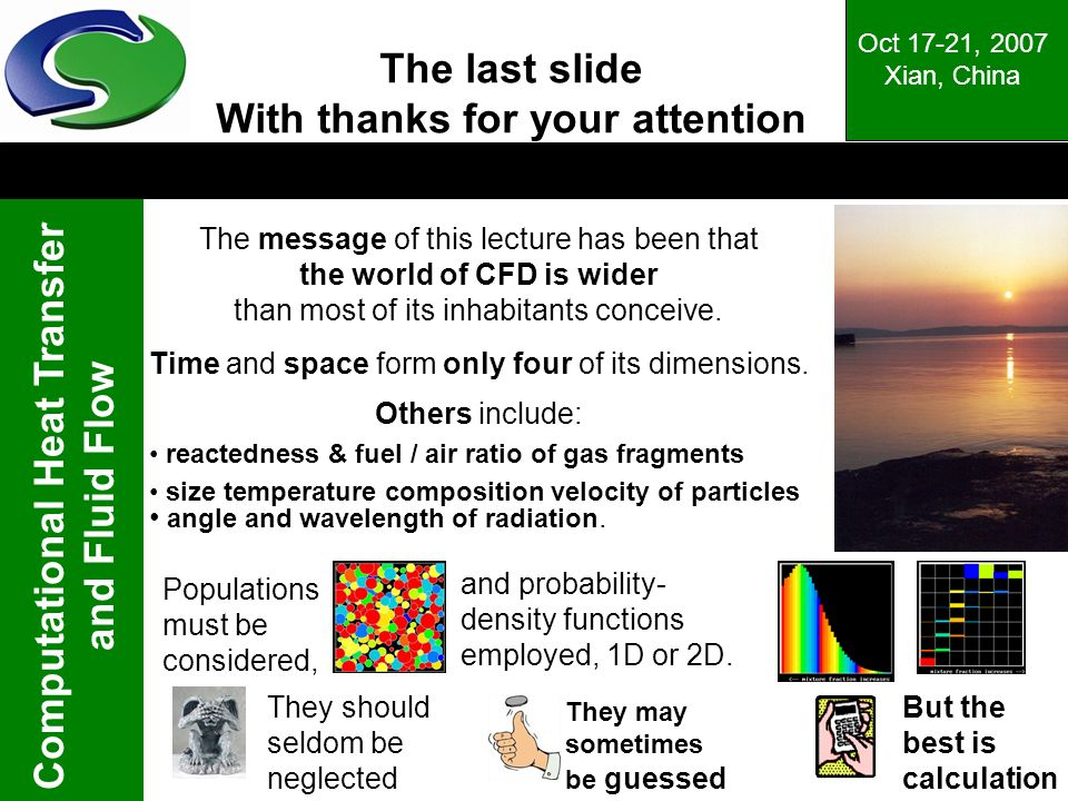 The last slide With thanks for your attention