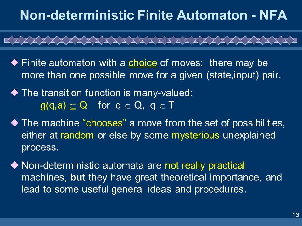 Non-deterministic Finite Automaton - NFA