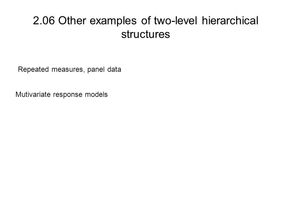 2.06 Other examples of two-level hierarchical structures