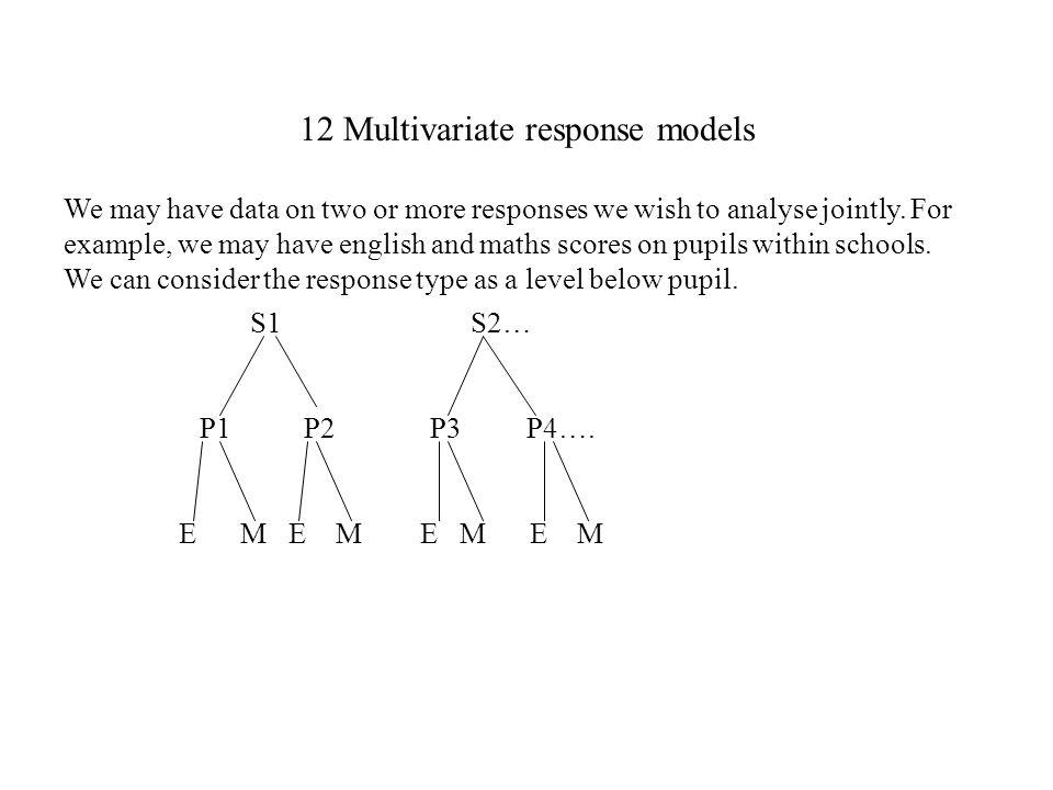 12 Multivariate response models