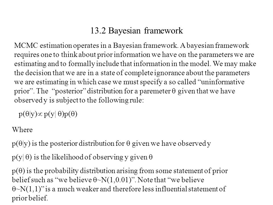 13.2 Bayesian framework