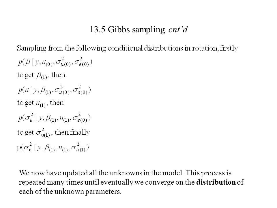 13.5 Gibbs sampling cnt'd