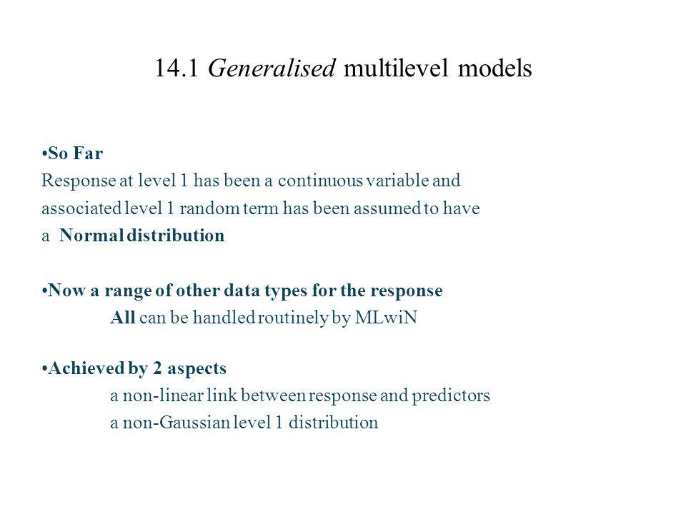 14.1 Generalised multilevel models