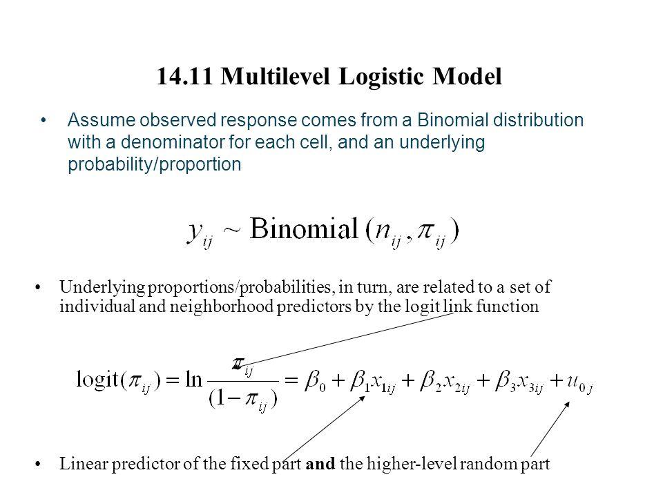 14.11 Multilevel Logistic Model