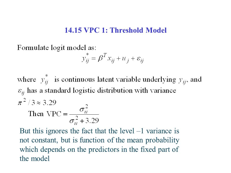 14.15 VPC 1: Threshold Model