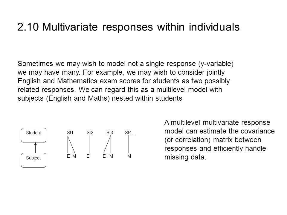 2.10 Multivariate responses within individuals