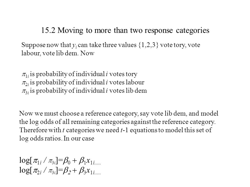 15.2 Moving to more than two response categories