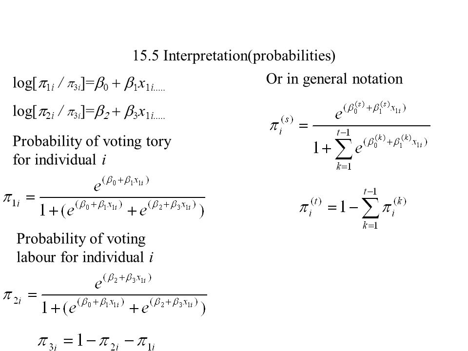 15.5 Interpretation(probabilities)