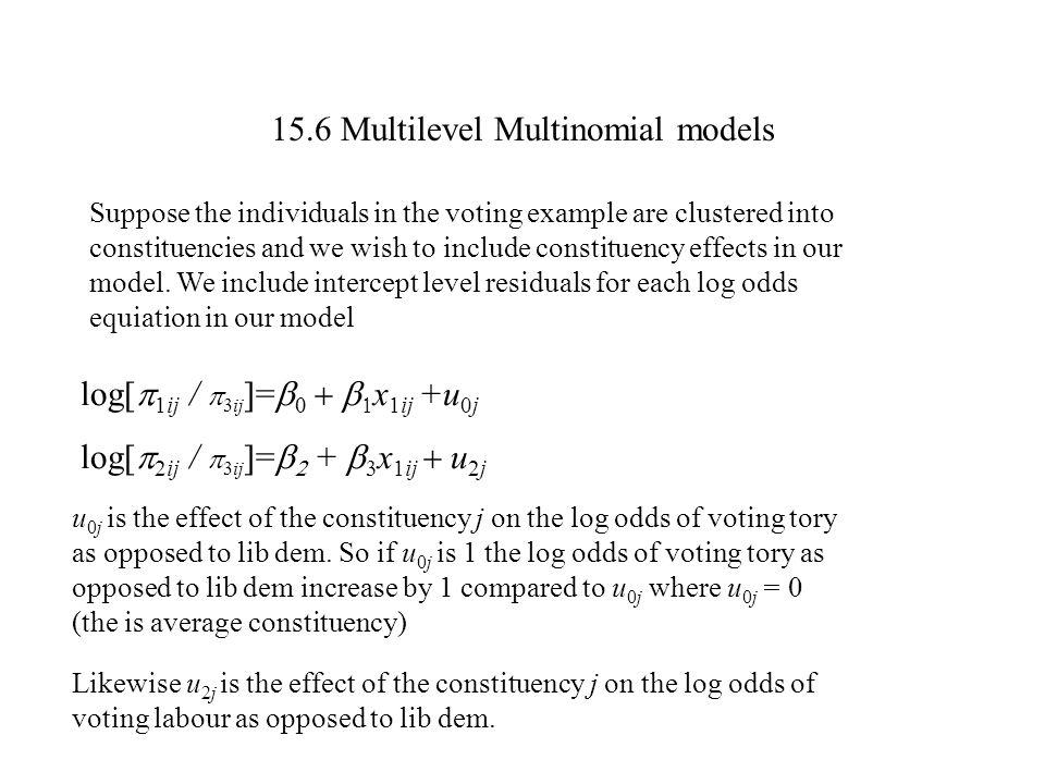 15.6 Multilevel Multinomial models