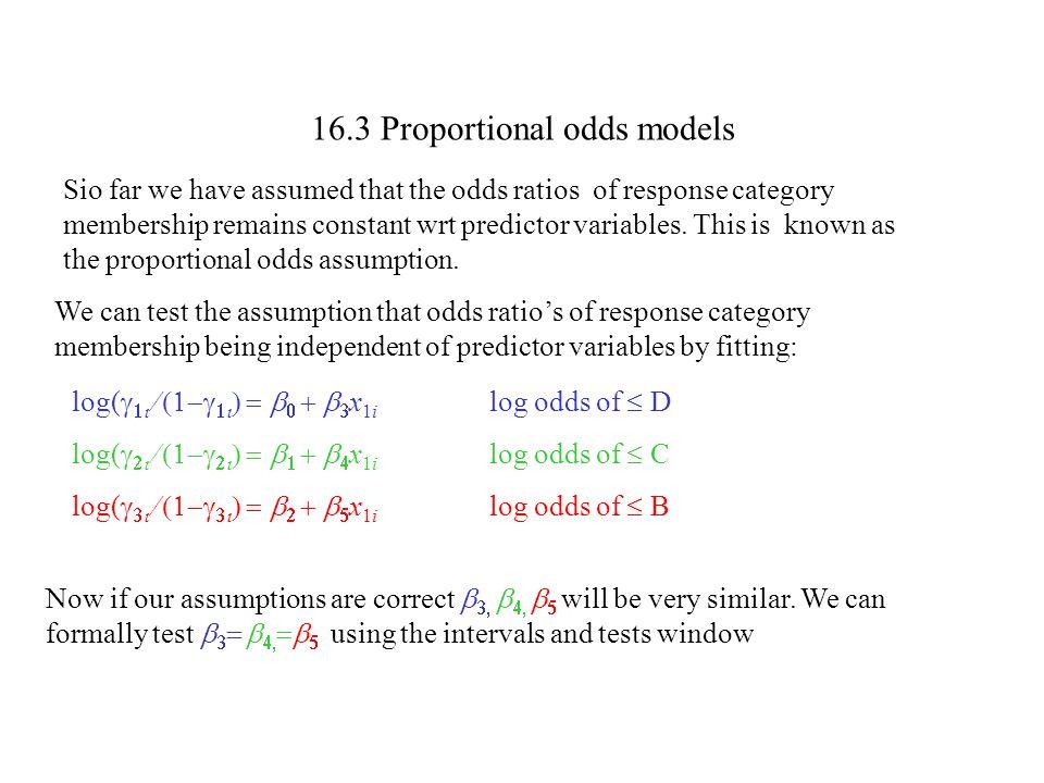16.3 Proportional odds models