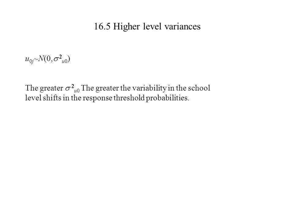 16.5 Higher level variances