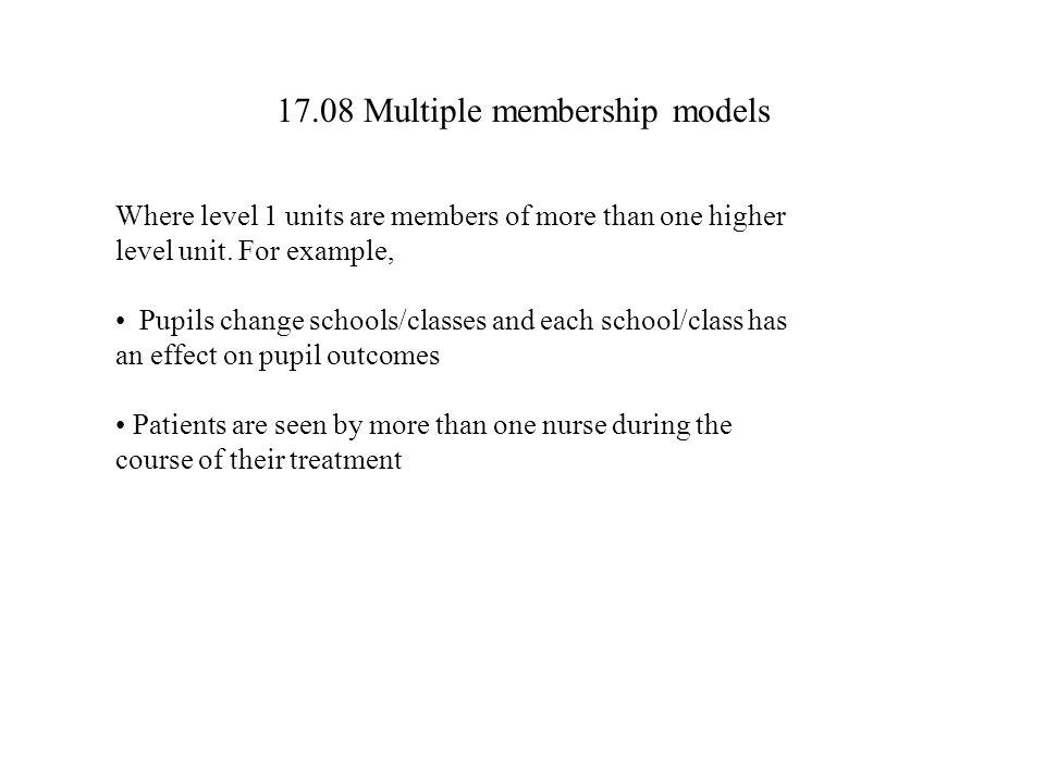 17.08 Multiple membership models