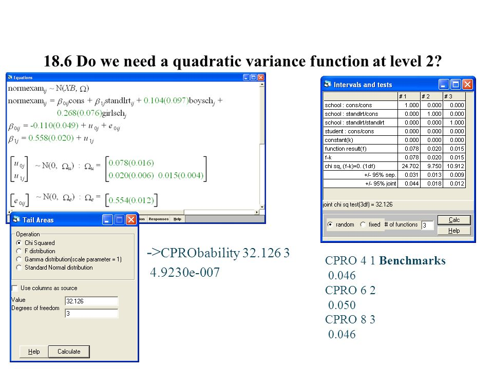 18.6 Do we need a quadratic variance function at level 2