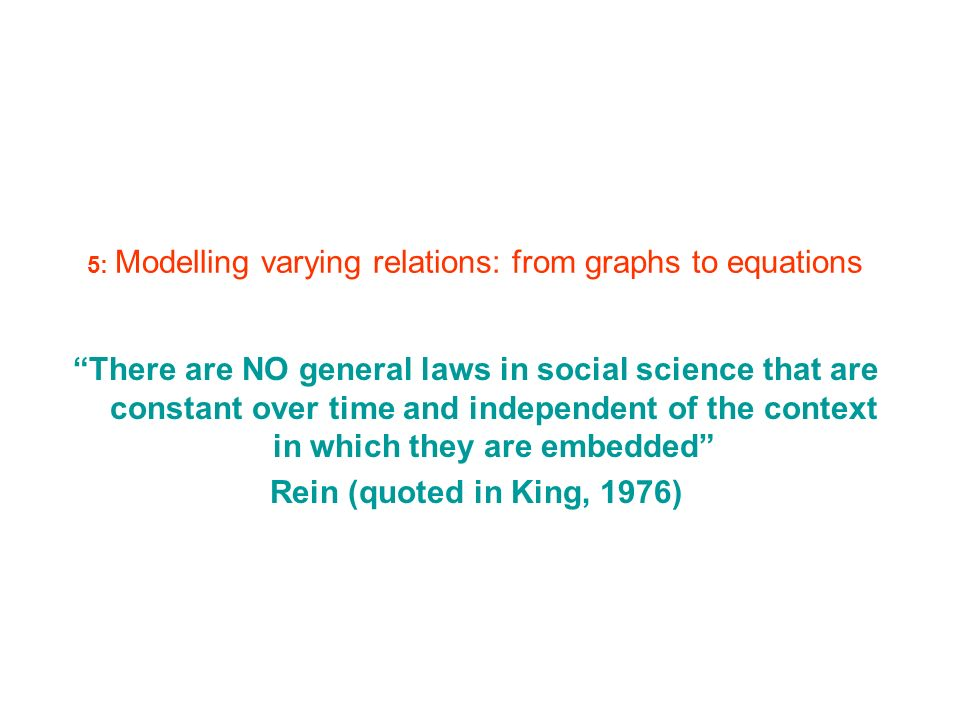 5: Modelling varying relations: from graphs to equations