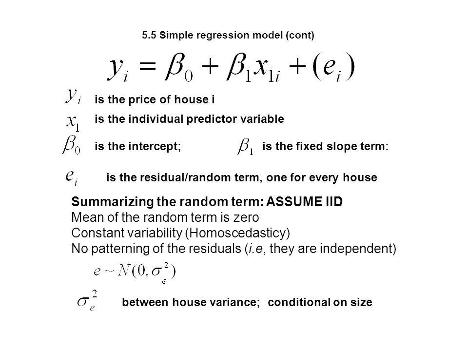 5.5 Simple regression model (cont)