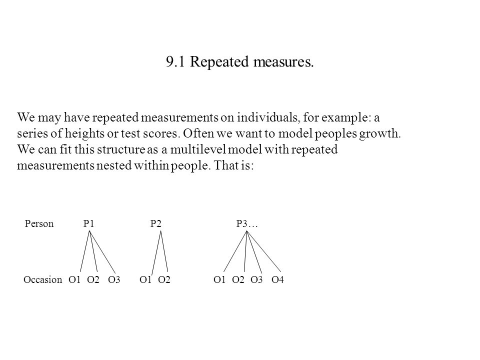 9.1 Repeated measures.