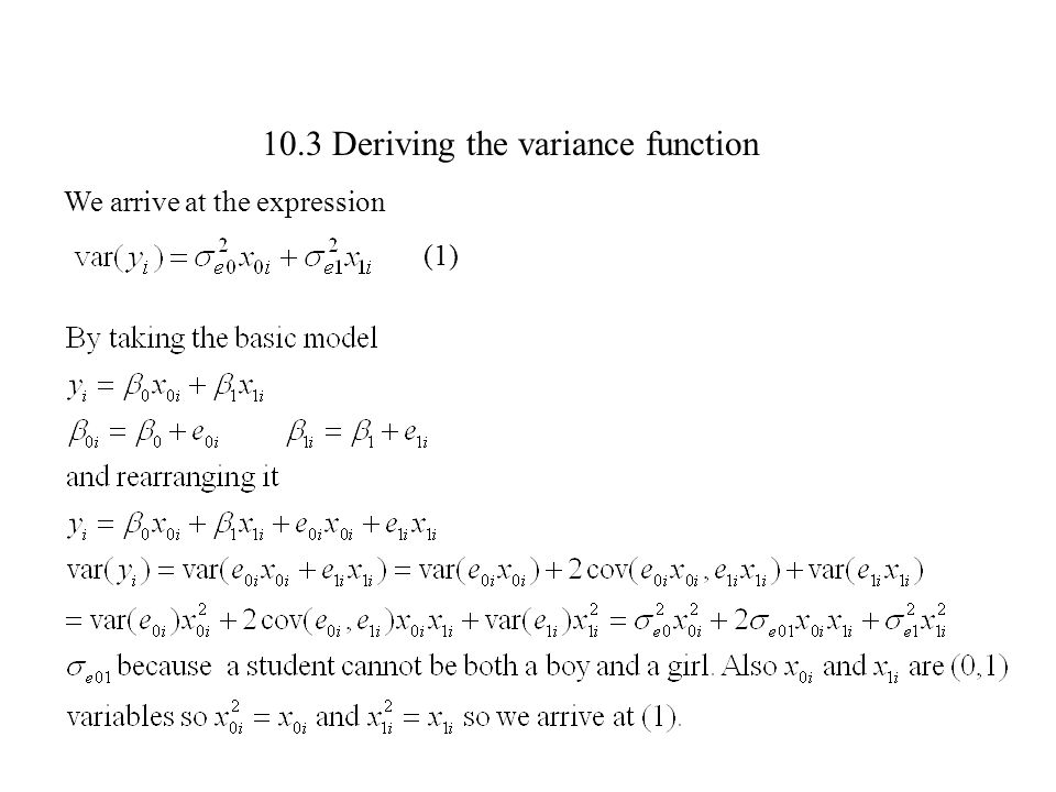10.3 Deriving the variance function