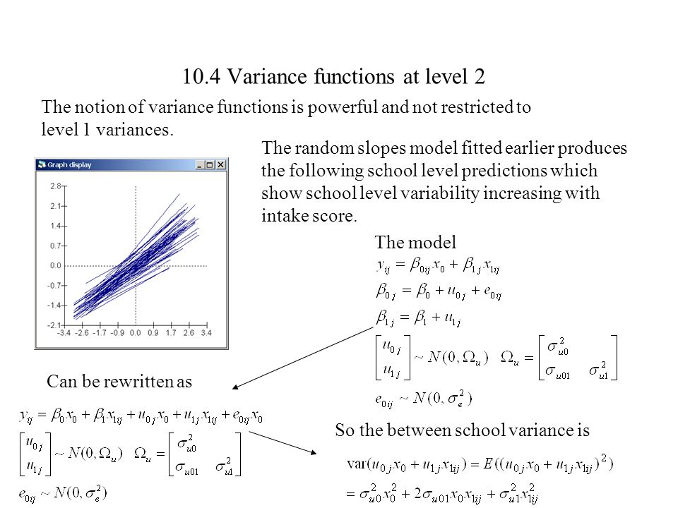 10.4 Variance functions at level 2