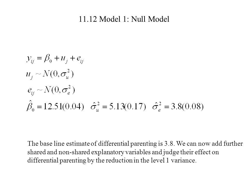 11.12 Model 1: Null Model