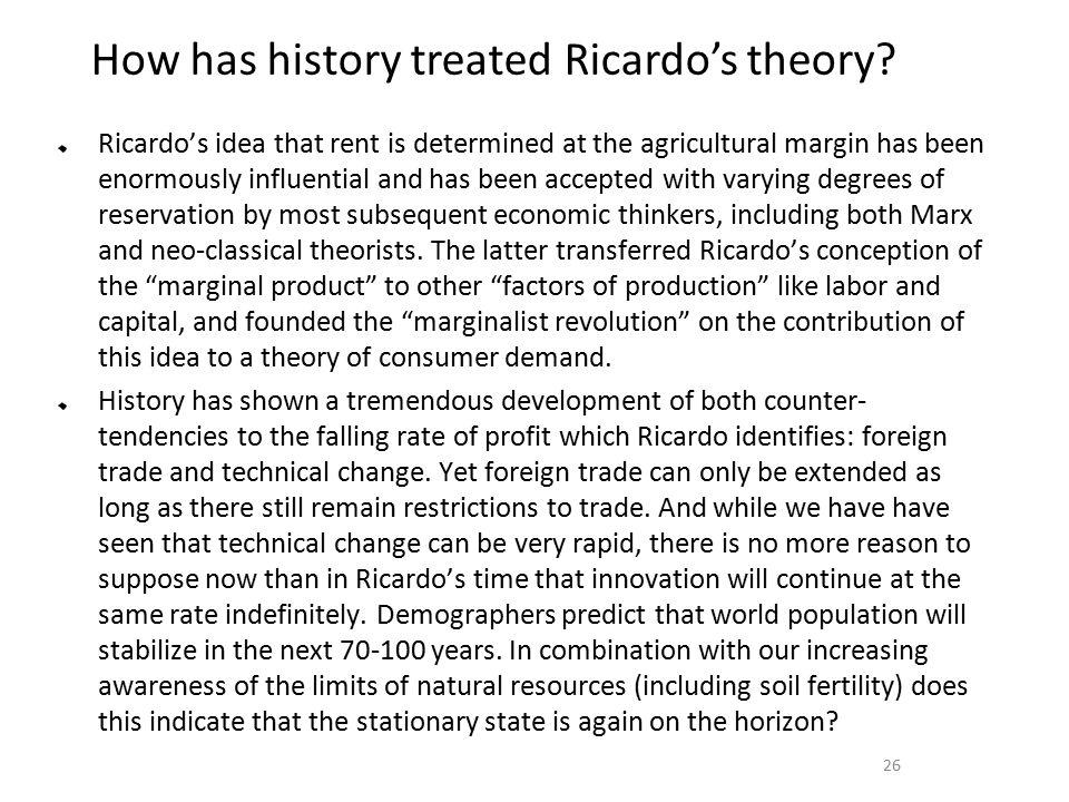 ricardo theory of rent pdf