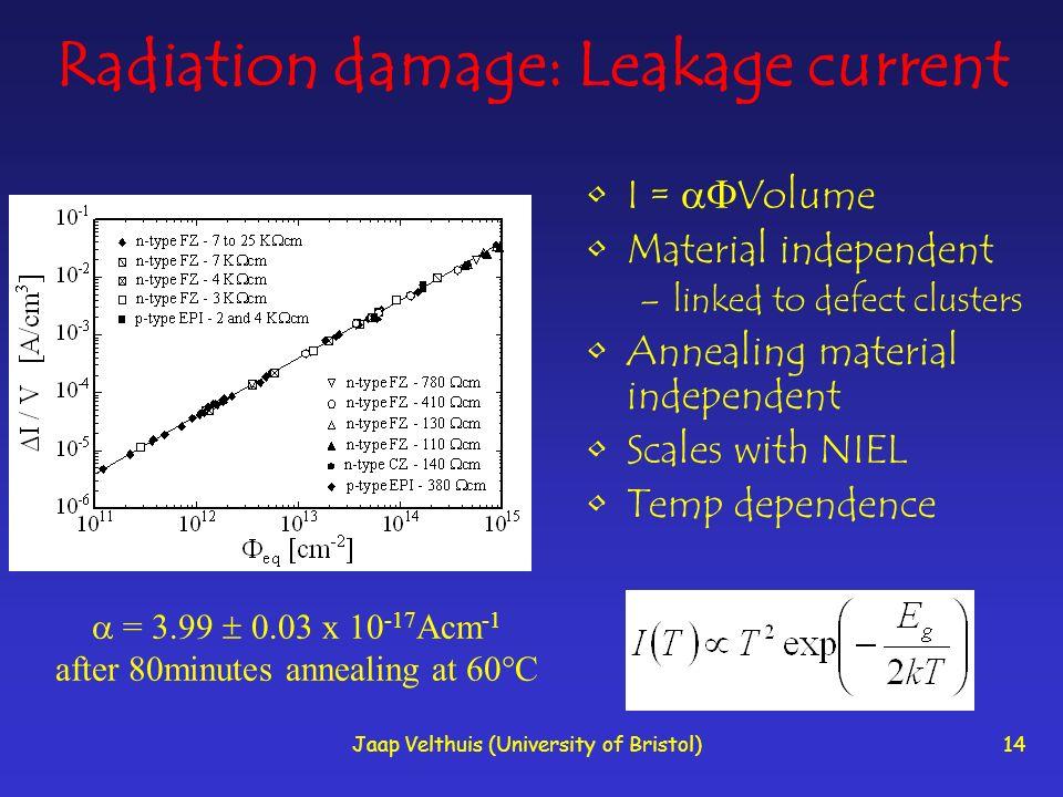 Radiation damage: Leakage current