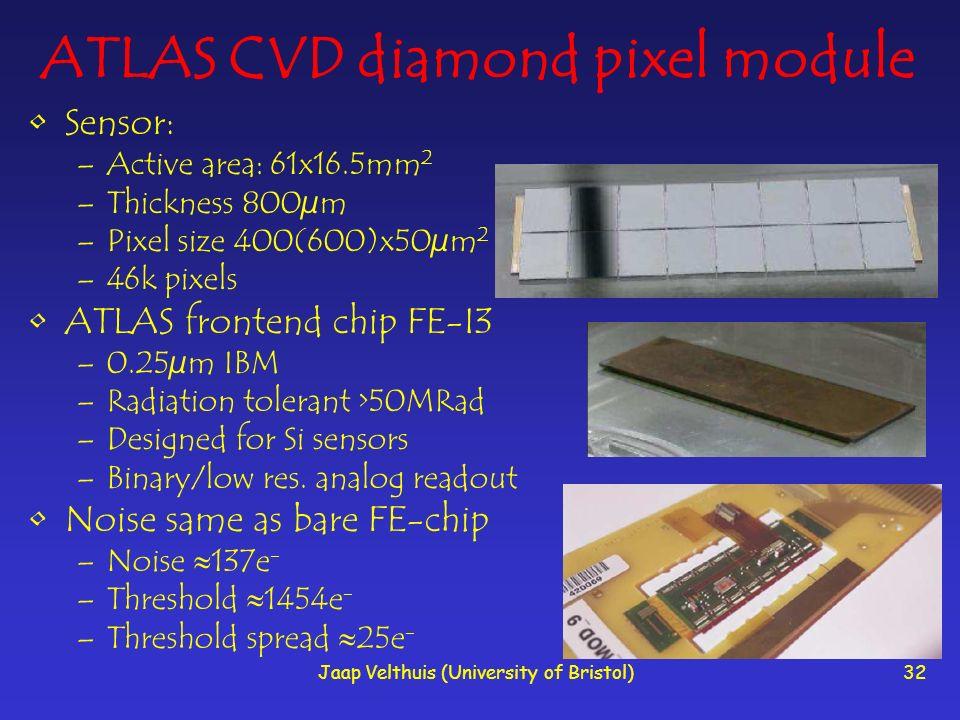 ATLAS CVD diamond pixel module