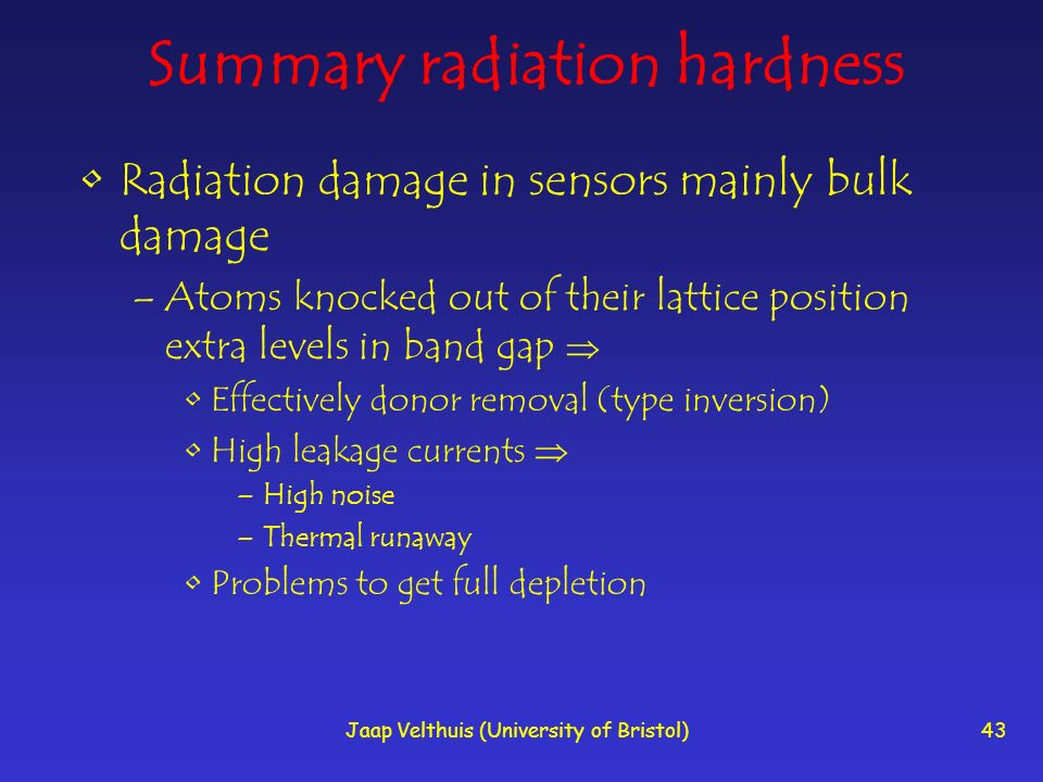 Summary radiation hardness