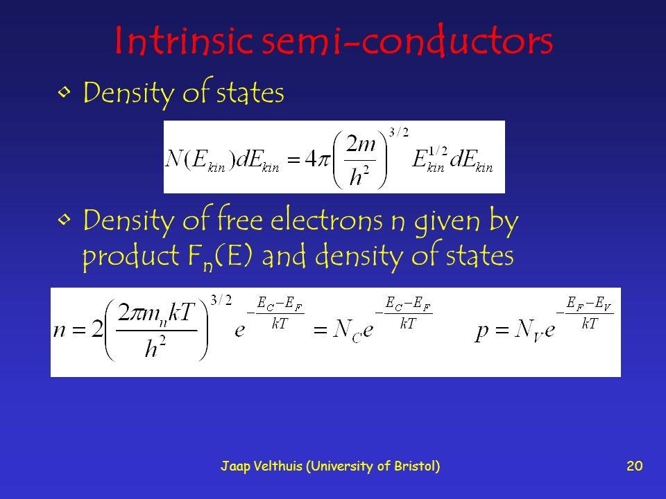 Intrinsic semi-conductors