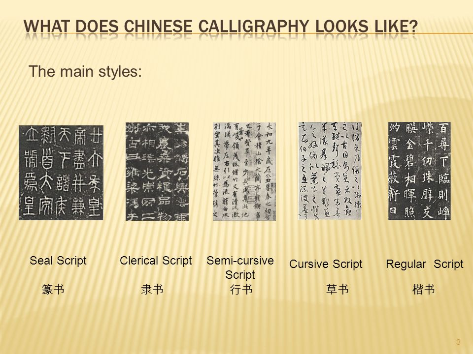 What does chinese calligraphy looks like