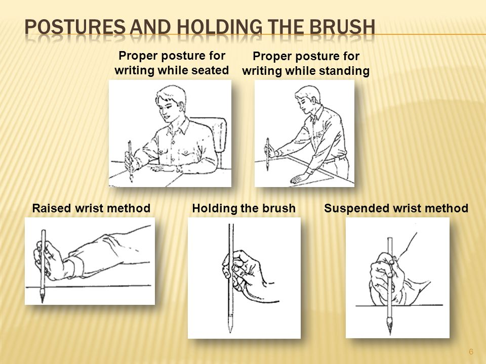 Postures and holding the Brush