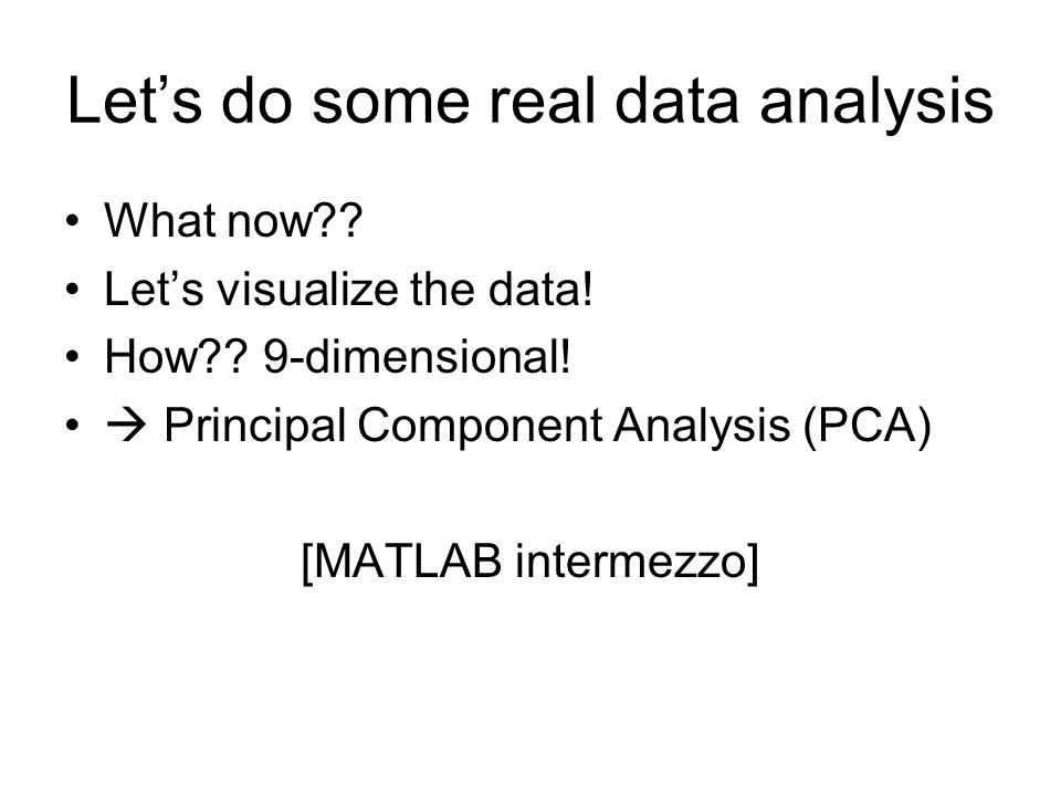 Let's do some real data analysis