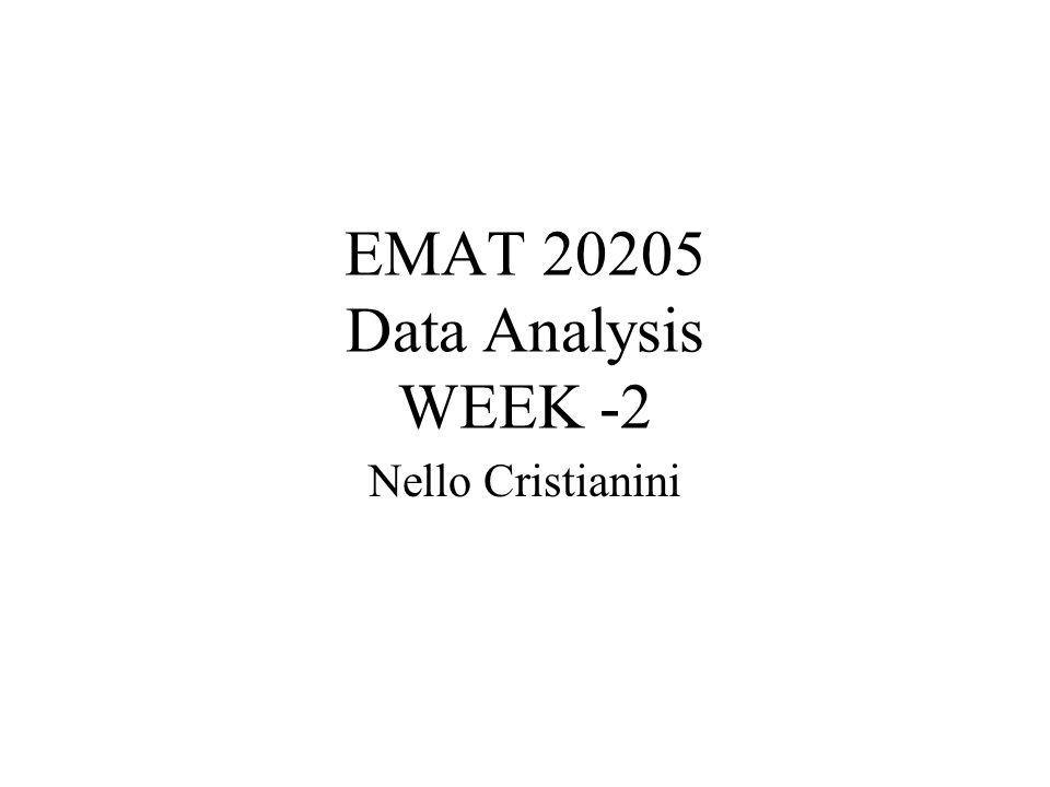 EMAT 20205 Data Analysis WEEK -2