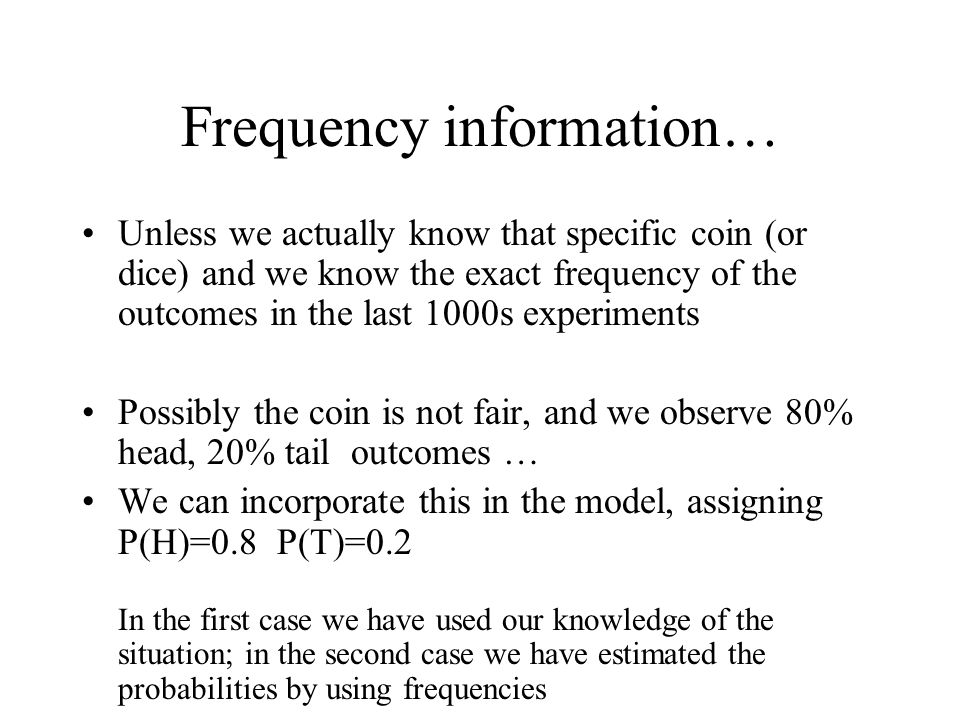 Frequency information…
