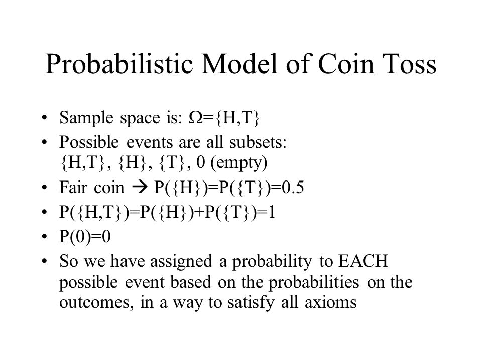 Probabilistic Model of Coin Toss