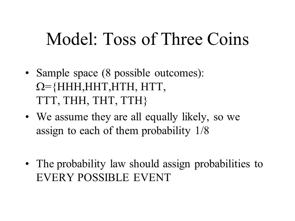 Model: Toss of Three Coins