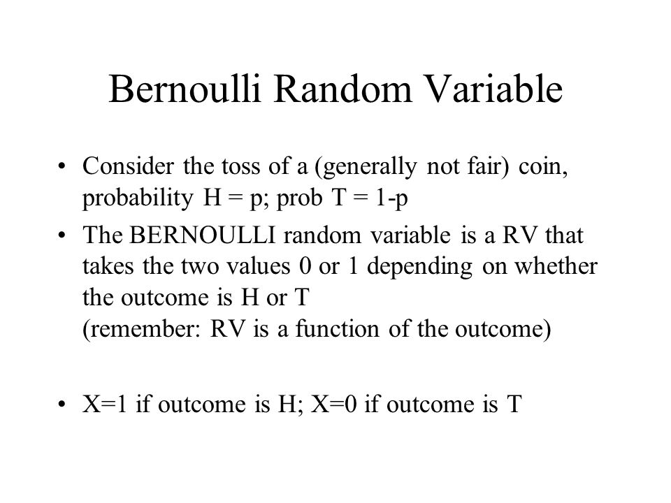 Bernoulli Random Variable