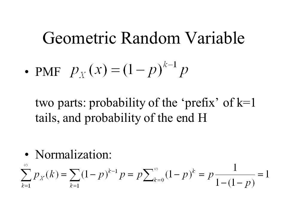 Geometric Random Variable