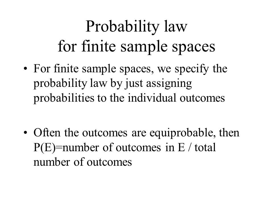 Probability law for finite sample spaces