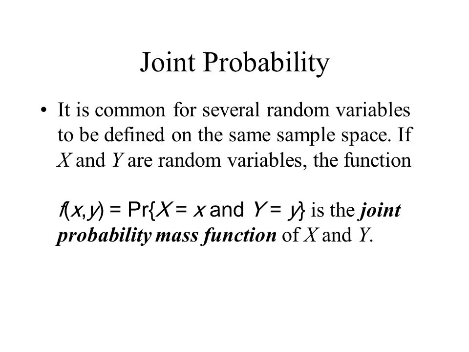 Joint Probability