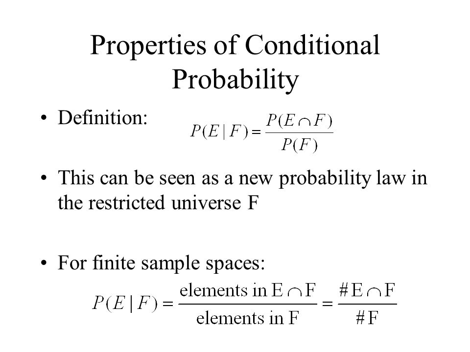 Properties of Conditional Probability