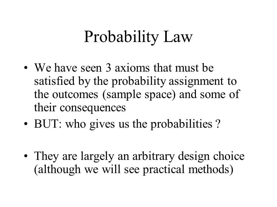 Probability Law