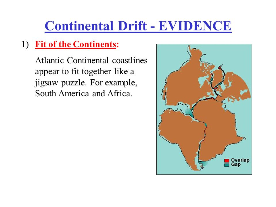 evidence of continental drift Continental drift was hotly debated off and on for decades following beginning in the 1950s, a wealth of new evidence emerged to revive the debate about.