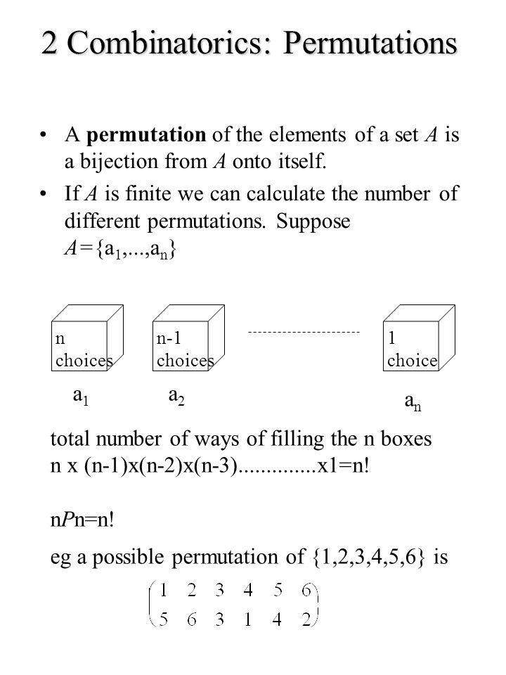 2 Combinatorics: Permutations