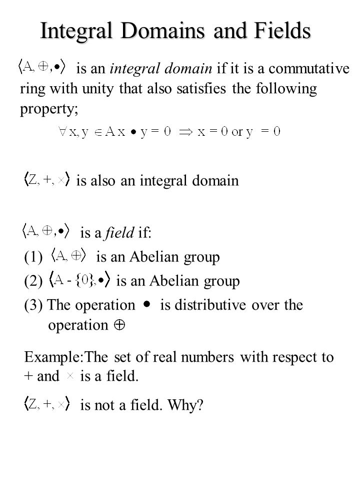 Integral Domains and Fields