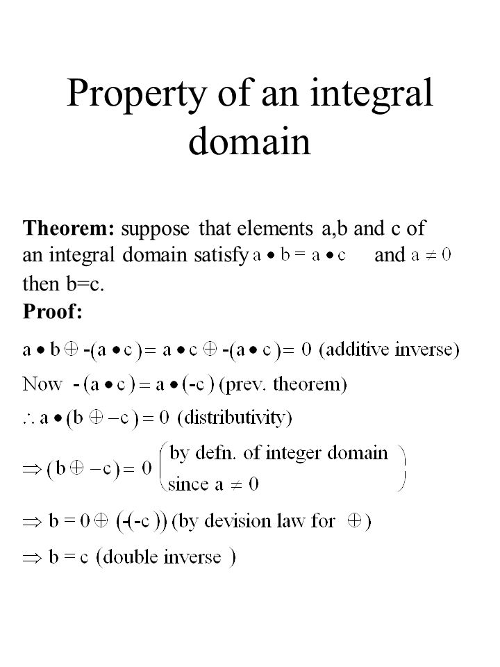 Property of an integral domain